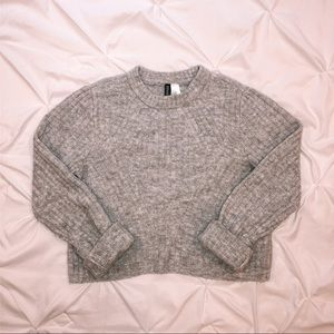 Grey Divided Sweater